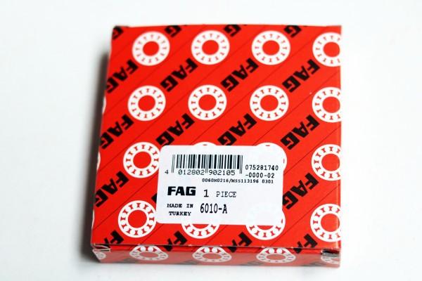 Rillenkugellager FAG 6010-A / 6010A