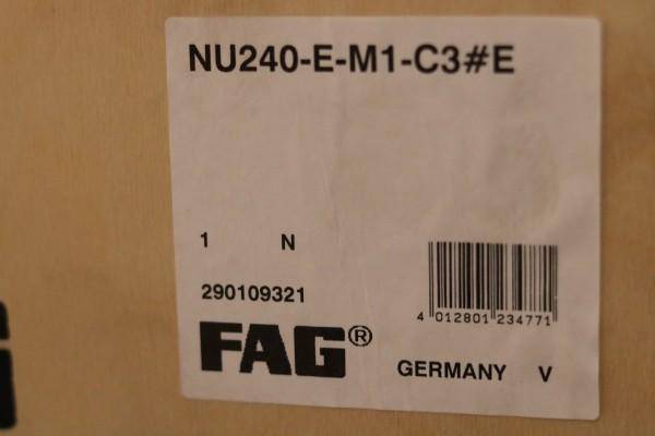 Zylinderrollenlager FAG NU240-E-M1-C3 / NU240EM1C3 / NU240-EM1C3