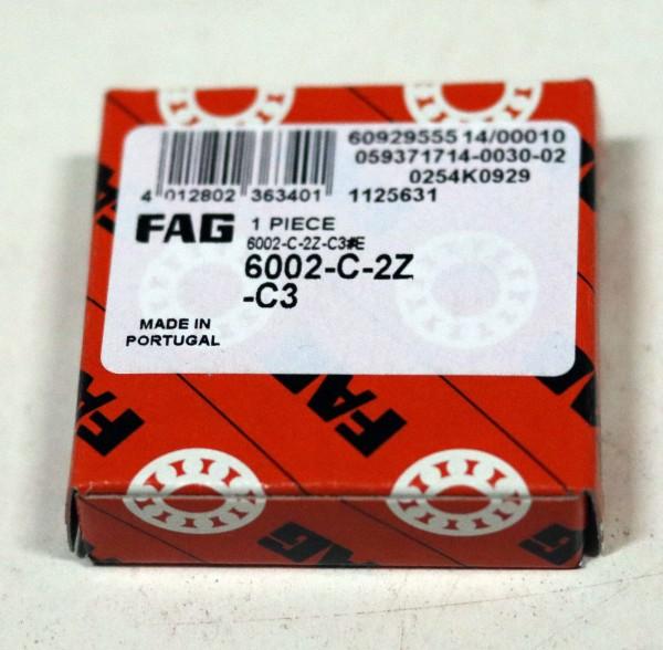Rillenkugellager FAG 6002-C-2Z-C3 / 6002C2ZC3 / 6002-C2ZC3