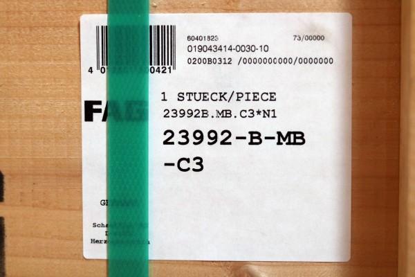 Pendelrollenlager FAG 23992-B-MB-C3 / 23992BMBC3 / 23992-BMBC3