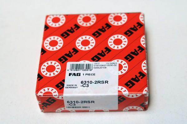 Rillenkugellager FAG 6310-2RSR-C3 / 63102RSRC3 / 6310-2RSRC3