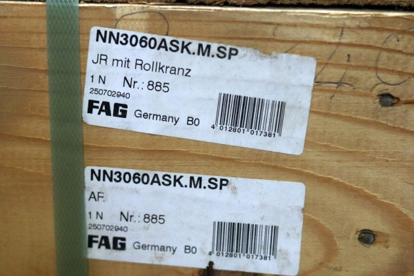Zylinderrollenlager FAG NN3060AS-K-M-SP / NN3060ASKMSP / NN3060AS-KMSP