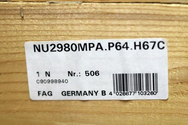 Zylinderrollenlager FAG NU2980-MPA-P64-H67C / NU2980MPAP64H67C