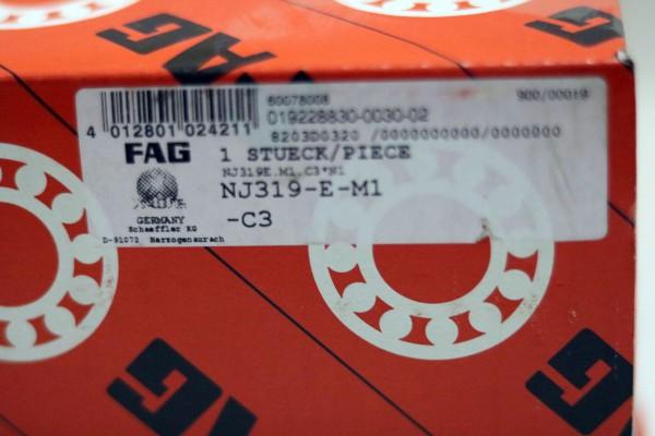 Zylinderrollenlager FAG NJ319-E-M1-C3 / NU319EM1C3 / NU319-EM1C3